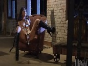 Beauty performs rodeo on rod