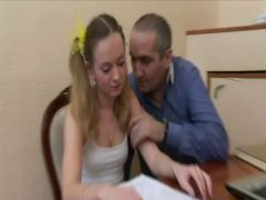 Old Teacher and Sexy Russian Student Priceless Fuck