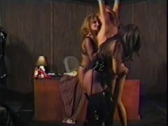 Girl is disciplined by two Mistresses