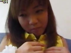 Asian girl fucks fully clothed