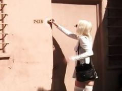 A Girl Gets A Tour Of A Bondage Dungeon