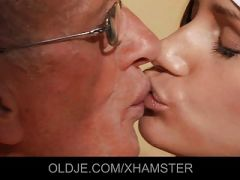 Young cleaning lady gets anal with old man