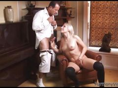Young blonde pounded hard