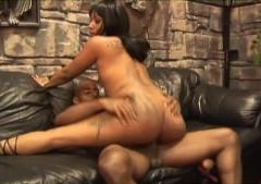 Ebony couple has fun on the couch - Blackout Pictures