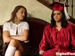 Bigtitted college campus babe doggystyled