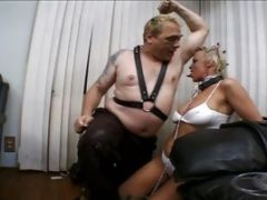 Blonde Gets A From A Yellow-haired Starlet In The Bathroom