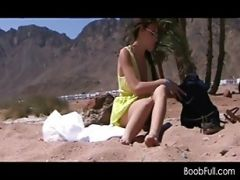 Safari Girl Taking Off Clothes For Hot Sex In The Desert