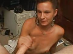 Old mature pov handjob
