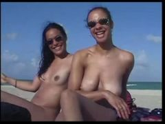 hot ladies naked on the beach