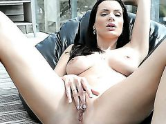 Kyla Fox loves to catch adored glances on her incredible breasts and legs, so she is always ready to get naked and play with herself even in the middl