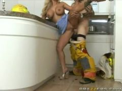 Enormous boobed Shyla Stylez getting the ideal fuck she wanted in the kitchen