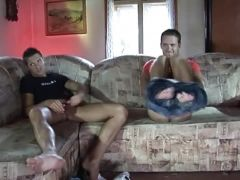 Horny hunks getting nasty in the living room