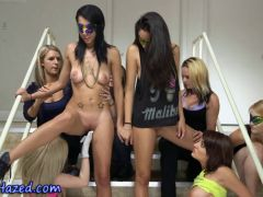Real party teenies toyed