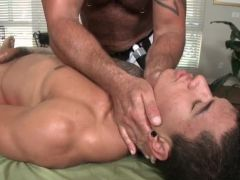 Drunk straight man gets sucked by gay man