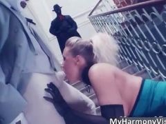 Awesome blonde hoe Karlie Simon blows