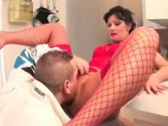 Anal sex scene with a hot mature bitch