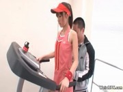 Japanese sport video with a cute girl