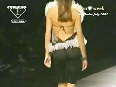 Adriana Lima see through top on runway