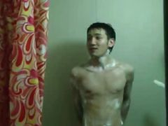 naked friend in the shower