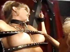 Super Sexy Blonde Gets Strewn Up And Clamped