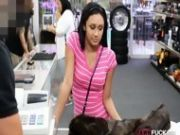 Amateur Chick Pawns Her Pussy For Money In The Pawnshop