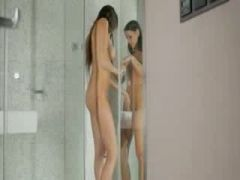 The most erotic lesbians in the shower