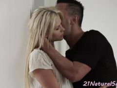 Doggystyle fucked eurobabe loves her new bf