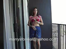 balcony stripping and get undressedtease