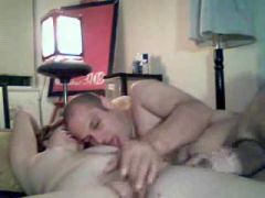 Sex-couple stroke and finger in bed