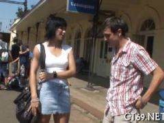 our skillful teen babe does her best to please her partner