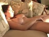 Self touching on the couch