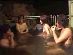 Sexy japanese chicks are ing  outdoors