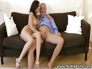 Hot Young Babe Getting Pussy Fucked By This Lucky Old Guy