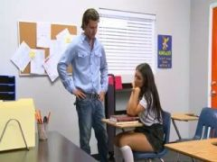 School sex with angelic cute girl