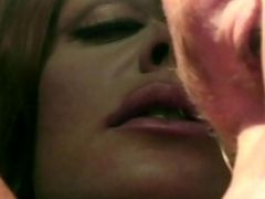 Busty Redhead Gives A Blowjob To A Hot Stud Outdoors