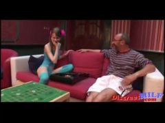 old man young girl hot girl with old tutor