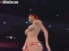 Girl at a night club dances naked