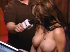 Tattooed girl gets naked on Howard Stern