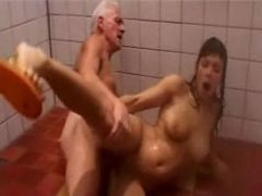 Old And Young Shower Together