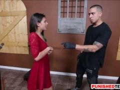 Skinny teen Gina Valentina domination and gets rammed