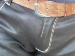 first 2015 outdoor wetting leather jeans