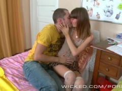 Young euro teen loves anal