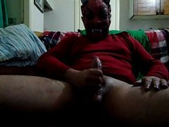 Mr. X Devil Masturbate cumshot...