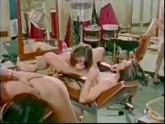 Classic sex tape with a hot orgy at the barbershop