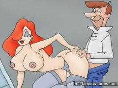 Futurama vs Jetsons cartoon porn parody