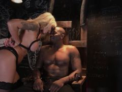 Pornstar electric chair domination