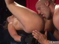 Penny Flame strapon fucks him and gets fucked