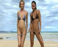 Naked Babes On The Beach