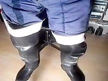 nlboots - piss waders blue working trousers