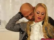Classy glamour girl pussy groped